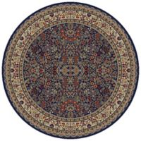 Concord Trading Sarouk 5-Foot 3-Inch Round Rug in Navy
