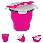 SmartPlanet Collapsible Soup & Salad Bowl Meal Kit in Pink