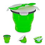 SmartPlanet Collapsible Soup & Salad Bowl Meal Kit in Green