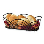 Spectrum™ Flower Bread Basket in Black