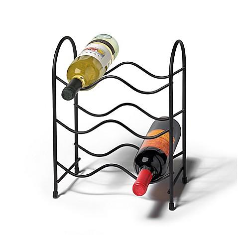 Spectrum Metro 6 Bottle Wine Rack In Black Bed Bath