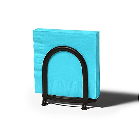 Spectrum ashley napkin holder in black bed bath beyond for Bathroom napkin holder
