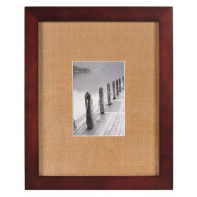 real simple espresso wood wall frame with khaki mat for 5 inch x 7