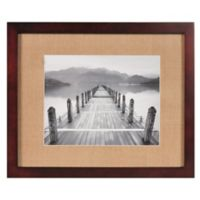 Real Simple® Espresso Wood Wall Frame with Khaki Mat for 14-Inch x 11-Inch Photo