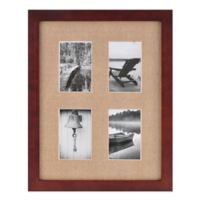 Real Simple® Espresso Wood Wall Frame with Khaki Mat for 4 4-Inch x 4-Inch Photos
