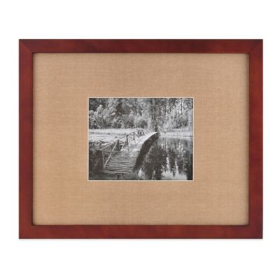 real simple espresso wood wall frame with khaki mat for 10 inch x 8