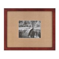 Real Simple® Espresso Wood Wall Frame with Khaki Mat for 10-Inch x 8-Inch Photo