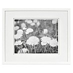 Real Simple® White Wood Wall Frame with White Double Mats for 14-Inch x 11-Inch Photo