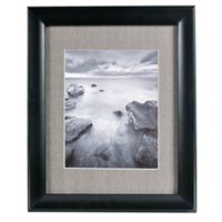 Real Simple® Deep Black Wood Wall Frame with Grey Mat