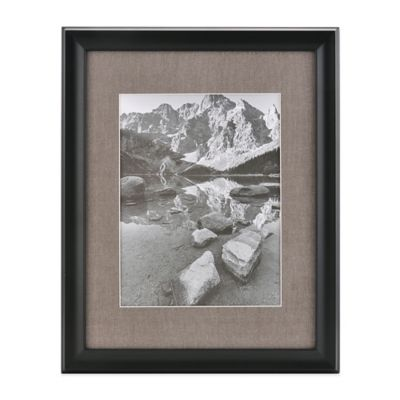 real simple deep blackwood wall frame with grey mat for 10 inch x 13