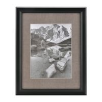 Real Simple® Deep BlackWood Wall Frame with Grey Mat for 10-Inch x 13-Inch Photo