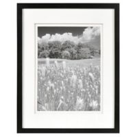 Real Simple® Black Wood Wall Frame with White Double Mat for 10-Inch x 13-Inch Photo