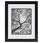 Real Simple® Black Wood Wall Frame with White Over Black Mat for 10-Inch x 13-Inch Photo