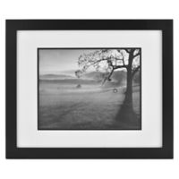 Real Simple® Black Wood Wall Frame with White Over Black Mat for 14-Inch x 11-Inch Photo