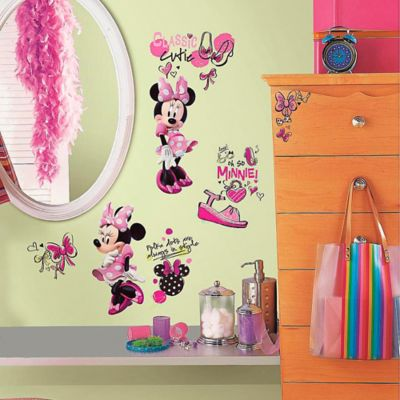 Wall Decor U003e Disney® Minnie Fashionista Peel And Stick Wall Decals