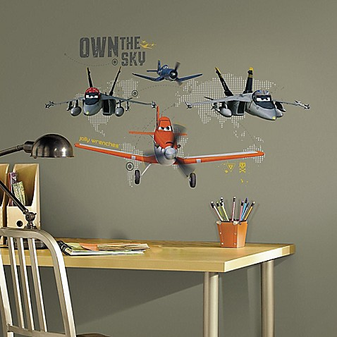 Disney planes own the sky giant peel and stick wall for Disney planes wall mural