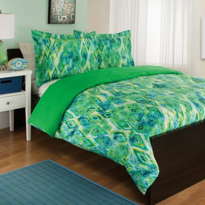 Charming Tropicana Reversible Twin Comforter Set