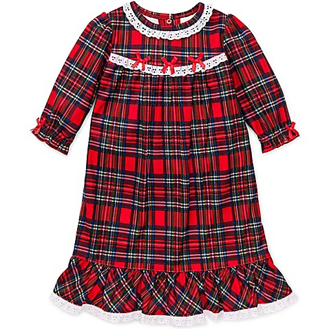 Little Me® Plaid Gown in Red - buybuy BABY