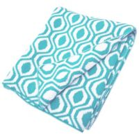 TL Care® Knit Cotton Blanket in Aqua Ogee