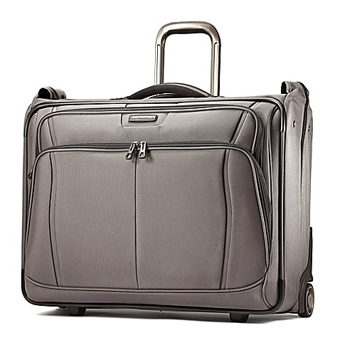 Samsonite dk3 garment bag in charcoal bed bath beyond for Wedding dress garment bag for plane