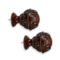 Cambria® Premier Wood Vine Finial in Cherry (Set of 2)