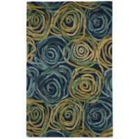 Trans-Ocean Tivoli Rambling Rose 5-Foot x 8-Foot Rug in Navy