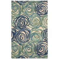 Trans-Ocean Tivoli Rambling Rose 5-Foot x 8-Foot Rug in Playa