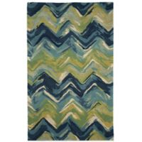 Trans-Ocean Tivoli Chevron 5-Foot x 8-Foot Rug in Playa