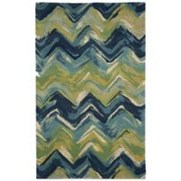Trans-Ocean Tivoli Chevron 9-Foot x 12-Foot Rug in Playa