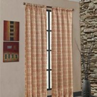 Mendes 108-Inch Rod Pocket Window Curtain Panel in Rust