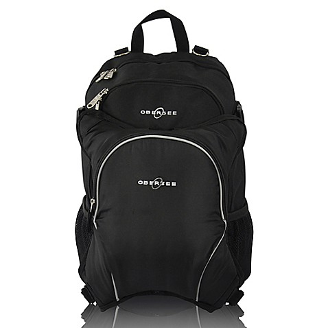 obersee rio diaper bag backpack with detachable cooler in black bed bath beyond. Black Bedroom Furniture Sets. Home Design Ideas