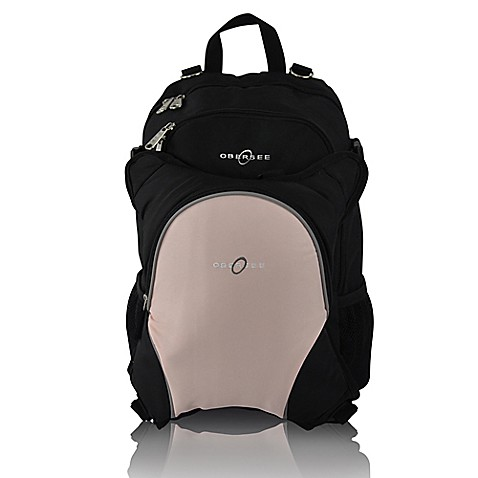 obersee rio diaper bag backpack with detachable cooler in black bubblegum buybuy baby. Black Bedroom Furniture Sets. Home Design Ideas