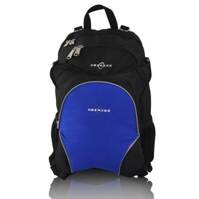obersee rio diaper bag backpack with detachable cooler in black royal blue. Black Bedroom Furniture Sets. Home Design Ideas