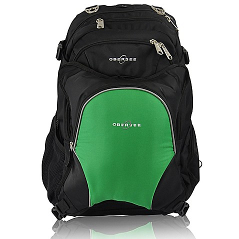 obersee bern diaper bag backpack with detachable cooler in green buybuy baby. Black Bedroom Furniture Sets. Home Design Ideas