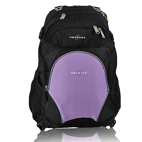 obersee bern diaper bag backpack with detachable cooler in purple buybuy baby. Black Bedroom Furniture Sets. Home Design Ideas