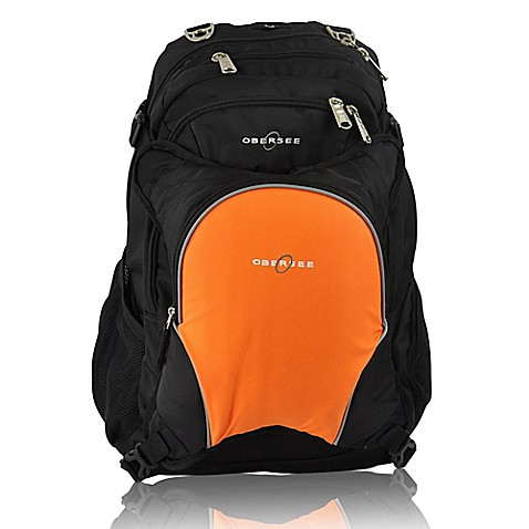 obersee bern diaper bag backpack with detachable cooler in orange bed bath beyond. Black Bedroom Furniture Sets. Home Design Ideas