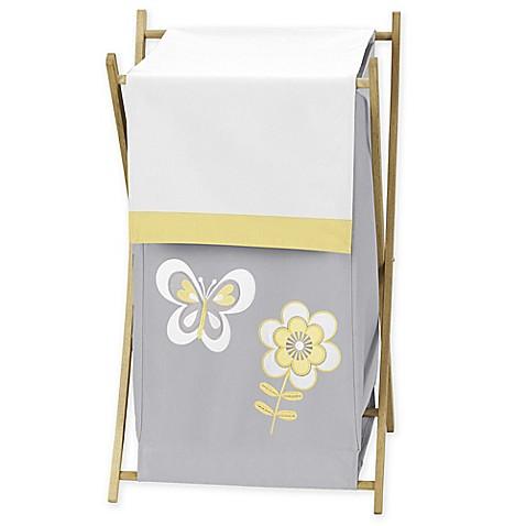 Sweet jojo designs mod garden hamper bed bath beyond for Sweet jojo designs bathroom