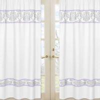 Sweet Jojo Designs Elizabeth Window Panels in Lavender/Grey (Set of 2)