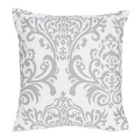 Sweet Jojo Designs Elizabeth Reversible Throw Pillow in Lavender/Grey