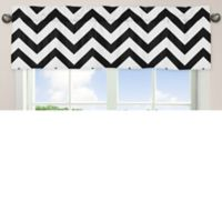 Sweet Jojo Designs Chevron Window Valance in Black and White