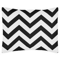 Sweet Jojo Designs Chevron Standard Pillow Sham in Black and White