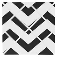 Sweet Jojo Designs Chevron Memo Board in Black and White