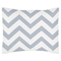 Sweet Jojo Designs Chevron Pillow Sham in Grey and White