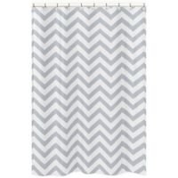 Sweet Jojo Designs Chevron Shower Curtain in Grey/White
