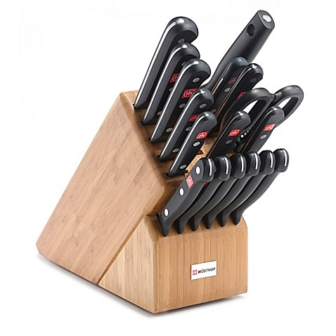 Wusthof 174 Gourmet 18 Piece Promo Bamboo Knife Block Set