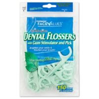 Harmon® Face Value™150-Count Hi Performance Dental Flossers Gum Stimulator and Pick in Mint