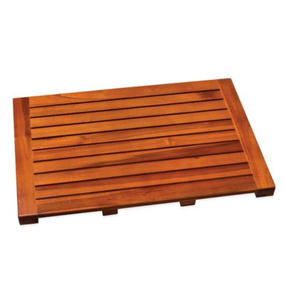 Teak Bath Mat. Buy Wood Bath Mats from Bed Bath  amp  Beyond