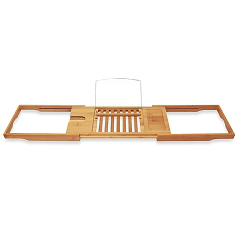Bamboo Bathtub Caddy with Extending Sides - Bed Bath & Beyond