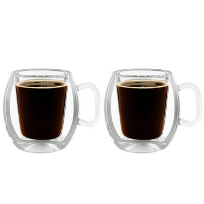 Luigi Bormioli Thermic Double Wall Insulated Coffee Mugs Set Of 2