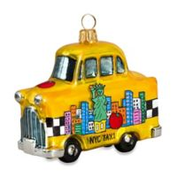 Joy to the World Collectibles Pop Art NYC Taxi Christmas Ornament